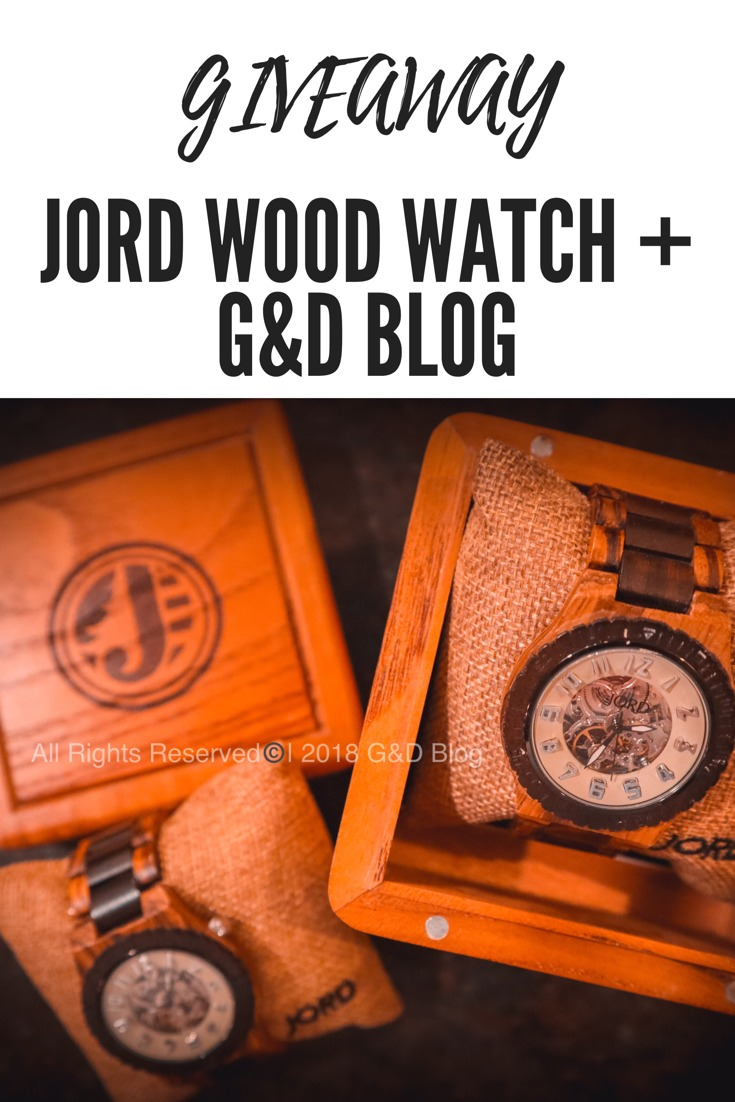GIVEAWAY! JORD Wood Watch + G&D Blog